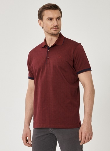 Beymen Business Comfort Fit Jakarlı Tişört 4B4820200012 Bordo